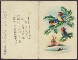CALENDRIER DE POCHE 1955 / ILLUSTRATION DE BONNE ANNEE / CONFISERIE FINE LEFORT Paris 18