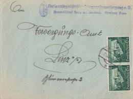 DR Brief Mef Minr.2x 748  23.9.40 Nebenstempel Beachten, Ansehen !!!!!!!!!!!!! - Deutschland
