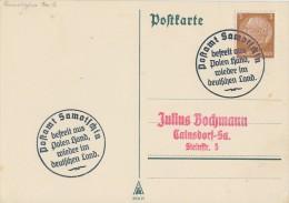 DR Karte EF Minr.513 Befreiungsstempel Postamt Samotschin - Besetzungen 1938-45