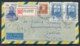 1956 Brasil - Sweden Fran Utlandet (via Stockholm Ban) Registered Airmail Cover (+ Letter) - Covers & Documents