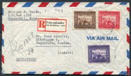 1948 Ecuador Airmail Cover Fran Utlandet (via Stockholm 1 Utr) Registered - Sweden (+ Letter) Via New York - Ecuador