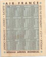 AIR FRANCE Calendrier 1938