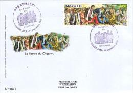 MAYOTTE 2010 Enveloppe 1er Jour Danse Mariage Chigoma Dance - Mayotte (1892-2011)