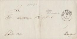 Brief Polizei-Sache Gelaufen Von Stralsund Nach Bergen Vom Arbeitshaus Stralsund - ...-1849 Vorphilatelie