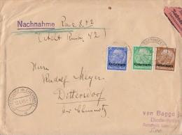 Lothringen NN-Brief Mif Minr.1,3,10 Diedenhofen 11.6.41 - Besetzungen 1938-45