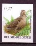 3898 Buzin  - Houtsnip/Bécasse Des Bois- Ongetand/non Dentelé/unperforated - Belgium