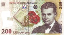 ROMANIA P. 122c 200 L 2009 UNC - Rumania