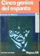 """LETRA NEGRA Nº11: """"CINCO GENIOS DEL ESPANTO"""" DE MARCELO DI MARCO AÑO 1996 EDIT. PAGINA 12-PAG.94 ILUSTRADO NUEVO  GECKO. - Culture"""