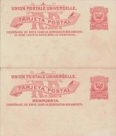 Dominicana 1898? - Ganzsache Doppelkarte Mit Je 2 Centavos - Dominica (1978-...)