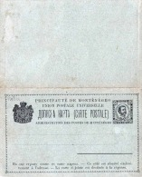 Montenegro 1893 - Ganzsache Doppelkarte Mit Je 5 Hob