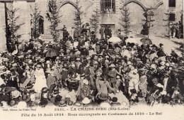 LA CHAISE-DIEU FETE DU 10 AOUT 1924 NOCE AUVERGNATE EN COSTUME DE 1820 LE BAL - La Chaise Dieu