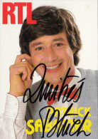 PATRICK SABATIER  RTL   - Autographe / Dedicace - Originalautogramm - Autographes