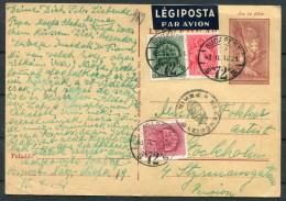 1943 Hungary Budapest Airmail Censor Postcard - Sweden