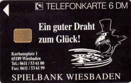 Casino Wiesbaden - Phone Card - 2 scans - Wiesbaden  - Germany - Allemagne - Europe