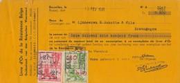 BELGIË/BELGIQUE:1946:Kwitantie/Reçu Van De ##Livre D'Or De La Résistance Belge/Guldenboek Van Den Belgischen Weerstand## - 1900 – 1949