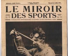 """22 Juillet 1925"""" LE MIROIR DES SPORTS"""" n�271.Tour de France cyclisme Championnat d�atlh�tisme Boxe Course motos"""
