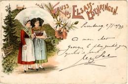 Gruss Aus Elsass-Lothringen - Précurseur - Cachet De Saarburg à Dieuze - Alsace