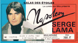 ticket de concert  NAPOLEON - SERGE LAMA