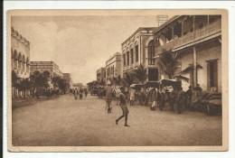 DJIBOUTI , Rue D' Abyssinie , 1951 , CPA ANIMEE - Djibouti