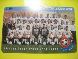 Israel. Football. Hapoel  (Haifa) FC. Magnetic Card. - Sport