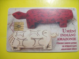 Ceska Respublika. Indian Of Amazon River Crafts. 1997. 50 Units - Czechoslovakia