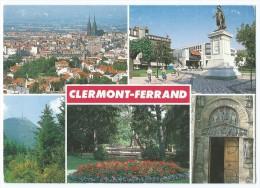 CLERMONT-FERRAND -Multivues (Vue Générale, Jardin Lecoq, Staue Général Desaix..- Animée -Circulée 1987 -Scan Recto-Verso - Clermont Ferrand