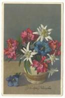 """1948, Cartolina Di Buon Compleanno """"Fiori"""" - Fiori"""