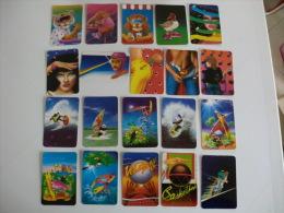 Trasa! Teasi�n  Complete Set of 147 Portugal Portuguese Pocket Calendars 1992