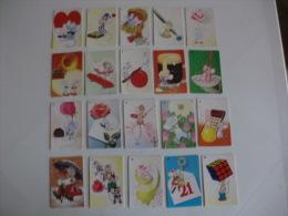 Animation Complete Set of 100 Portugal Portuguese Pocket Calendars 1990