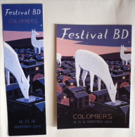 CP + Marque-page FESTIVAL BD COLOMIERS 2014 / Dessin Jon McNAUGHT / NEUF ! - Cartes Postales
