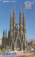 Télécarte Japon - ESPAGNE - CATHEDRALE BARCELONE - SPAIN CHURCH Japan Phonecard - Site HA10 - Landscapes