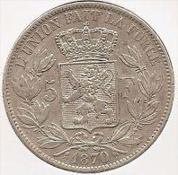 LEOPOLD II * 5 Frank 1870 * Prachtig * Nr 8962 - 09. 5 Francs