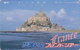 Télécarte Japon - FRANCE - MONT SAINT MICHEL - Japan Phonecard Telefonkarte - Site HANSHIN AIRLINES 20 - Landschappen