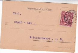 1917 KOMOTAU Austria Stamps COVER Card  Czechoslovakia - 1850-1918 Empire