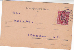 1917 KOMOTAU Austria Stamps COVER Card  Czechoslovakia - Covers & Documents