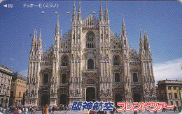 Télécarte Japon - ITALIE  MILAN CATHEDRALE - ITALY MILANO - Japan Phonecard - Site HANSHIN AIRLINES 26 - Paysages