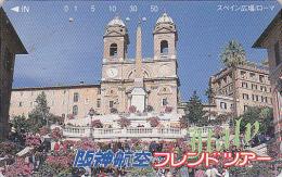 Télécarte Japon - ITALIE - ROME - EGLISE TRINITE DES MONTS - ITALY ROMA - Japan Phonecard - Site HANSHIN AIRLINES 28 - Paisajes