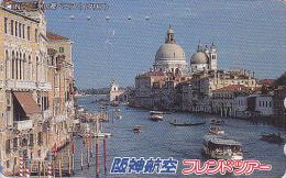 Télécarte Japon - ITALIE - VENISE  - ITALY - VENEZIA - Japan Phonecard Telefonkarte - Site HANSHIN AIRLINES 32 - Landscapes