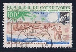 Ivory Coast, Scott # 286 Used Skal, Village, 1969 - Ivory Coast (1960-...)