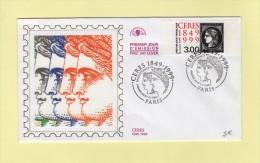 FDC Sur Soie - 3f Ceres Noir - Philexfrance 1999 - Postmark Collection (Covers)
