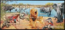Botswana 2001 Wetlands Animals Part 2 Chobe River Animal Nature Fauna Bird Monkeys Lion Elephants Wildlife Stamps MNH - Botswana (1966-...)