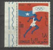 SOMALIA - 1960 Olympic Games (athlete) 1.80 MNH **     SG 364  Sc C74 - Somalia (1960-...)