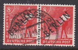Germany Berlin 1948 8pf Red Used Pair - [5] Berlin