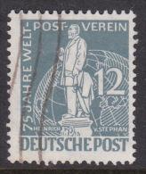 Germany Berlin 1949 75th Anniversary Of UPU 12pf Gray Used - [5] Berlin