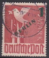 Germany Berlin 1949 Surcharged 1DM On 3DM Used - [5] Berlin