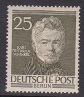Germany Berlin 1952 Portraits, 25pf Karl Schinkel Mint Hinged - Unused Stamps