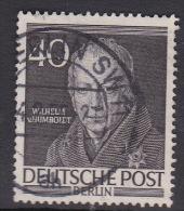 Germany Berlin 1952 Portraits, 40pf Wilhelm Von Humboldt Used - [5] Berlin
