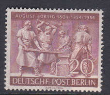 Germany Berlin 1954 Centenary Of August Borsig Death MNH - [5] Berlin
