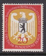 Germany Berlin 1955 Bundestag Meeting In Berlin 20pf Mint Hinged - [5] Berlin