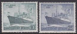 Germany Berlin 1955 Ships M.S. Berlin Set MNH - [5] Berlin